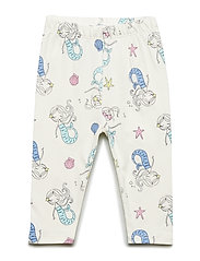 Toddler Print Capri Leggings in Stretch Jersey - MERMAIDS