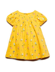 Toddler Puff-Sleeve Dress - MINI YELLOW FLORAL