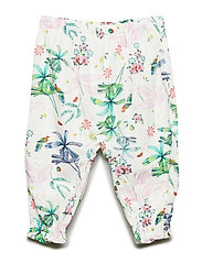 Baby Print Crinkle-Weave Pants - NEW OFF WHITE FLORAL