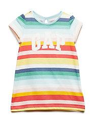 Baby Gap Logo Stripe Dress - MULTI STRIPE