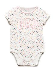Smr Arch Bs Kortärmad Body För Bebis Vit GAP