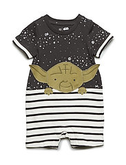 babyGap | Star Wars™ Yoda Shorty One-Piece - FLINT GREY