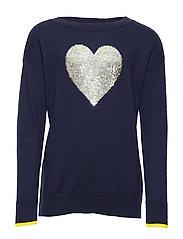 Kids Flippy Sequin Sweater - NAVY UNIFORM