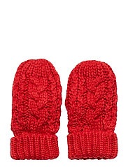 Toddler Cable-Knit Mittens - MODERN RED 2