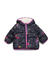 Toddler ColdControl Max Puffer - NAVY FLORAL