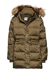 Kids ColdControl Ultra Max Down Puffer - OLIVE