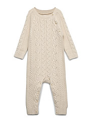 Baby Cable-Knit One-Piece - FRENCH VANILLA