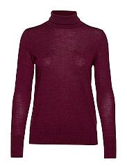 Turtleneck Sweater in Merino Wool - BOYSENBERRY JUICE