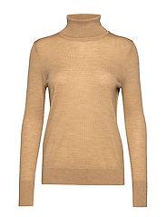 Turtleneck Sweater in Merino Wool - CAMEL 859 GLOBAL