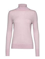 Turtleneck Sweater in Merino Wool - SOFT LILAC 965