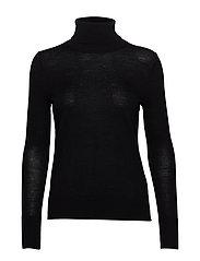 Turtleneck Sweater in Merino Wool - TRUE BLACK