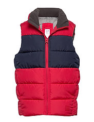 Kids ColdControl Max Puffer Vest - MODERN RED 2