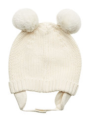 Baby Pom Trapper Hat - IVORY FROST