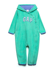 Baby Gap Logo Hoodie One-Piece - NEW MALACHITE
