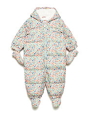 Baby ColdControl Ultra Max Down Snowsuit - WHITE FLORAL PRINT