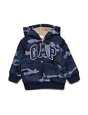 Toddler Gap Logo Sherpa Sweatshirt - BLUE CAMO