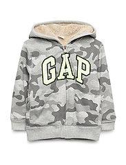 Toddler Gap Logo Sherpa Sweatshirt - GREY CAMO