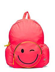 Kids Emoji Senior Backpack - NEON CORAL SPRINT