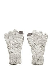 Kids Cable-Knit Smartphone Gloves - B10 GREY HEATHER