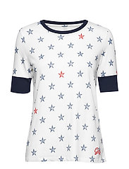GAP FOURTH TEE - WHITE STAR PRINT