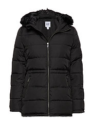 V-MIDWEIGHT PUFFER WITH FUR - TRUE BLACK V2 2