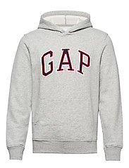 Gap Logo Pullover Hoodie - B10 GREY HEATHER