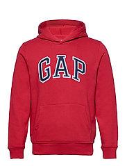 Gap Logo Pullover Hoodie - LASALLE RED
