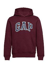 Gap Logo Pullover Hoodie - PINOT NOIR 796