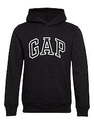 Gap Logo Pullover Hoodie - TRUE BLACK V2 2