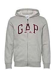 Gap Arch Logo Hoodie - B10 GREY HEATHER