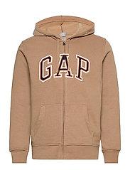 Gap Arch Logo Hoodie - CAMEL HAIR