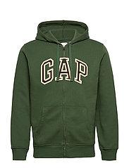 Gap Logo Full-Zip Hoodie - CLIMBING IVY 19-0307T