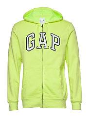 Gap Arch Logo Hoodie - RADIOACTIVE NEON COTTN