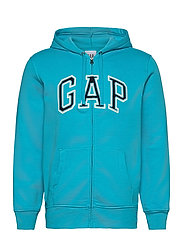 Gap Arch Logo Hoodie - TURQUOISE POOL