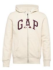 Gap Logo Full-Zip Hoodie - UNBLEACHED WHITE
