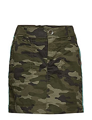 Kids Camo Side-Stripe Skirt - GREEN CAMO