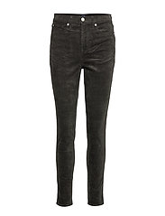 High Rise True Skinny Cords with Secret Smoothing Pockets - RICH OLIVE