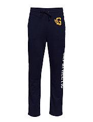 Gap Athletic Taper Logo Slim Sweatpants - TAPESTRY NAVY