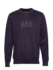 Gap Logo Crewneck Sweatshirt - TRUE BLACK V2 2