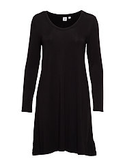U-Neck Swing Dress - TRUE BLACK V2 2