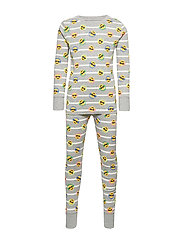 Kids Emoji PJ Set - B10 GREY HEATHER