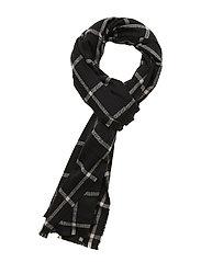 Cozy Pattern Scarf - BLACK PLAID