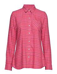 Plaid Flannel Shirt - PINK PLAID COMBO A