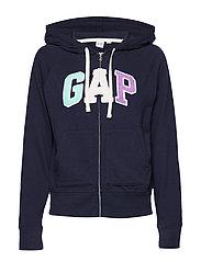 Gap Logo Full-Zip Hoodie - NAVY UNIFORM