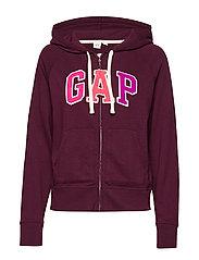 Gap Logo Full-Zip Hoodie - SECRET PLUM