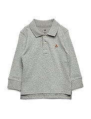 LS SOLID POLO - LIGHT HEATHER GREY B08