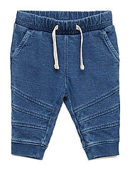 Baby Pull-On Moto Joggers - BLUE TRACK