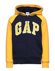 Kids Cozy-Lined Gap Logo Sweatshirt - TAPESTRY NAVY
