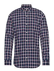 Lived-In Stretch Poplin Shirt - NAVY WINPANE
