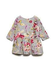 Toddler Floral Drop-Waist Dress - FLORAL PRINT